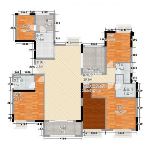 中海文华熙岸4室1厅3卫1厨211.00㎡户型图