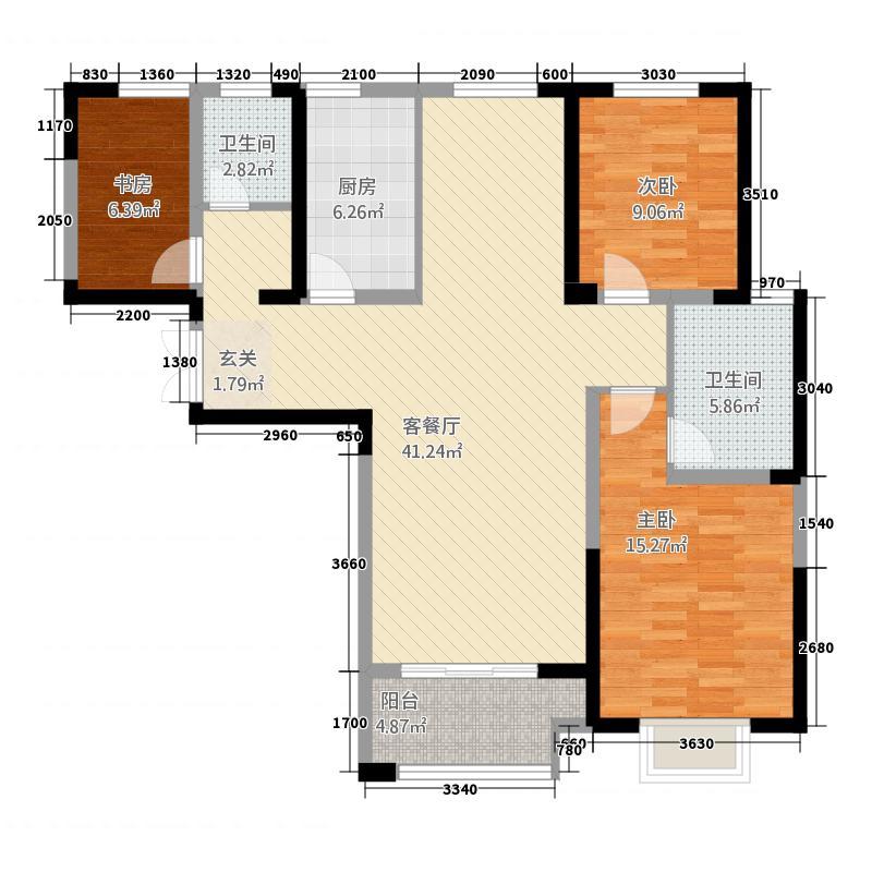 东方新天地43132.20㎡B4户型3室2厅2卫1厨