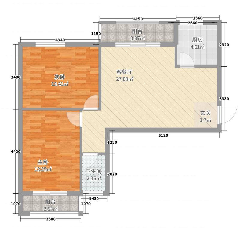 永辉・巴黎88.00㎡西区住宅12#楼C户型