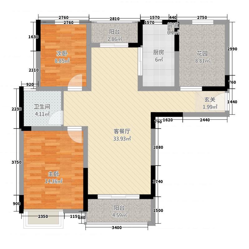 颐和观邸4户型3室2厅1卫1厨