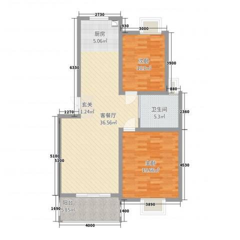 锦书清华里2室1厅1卫0厨104.00㎡户型图