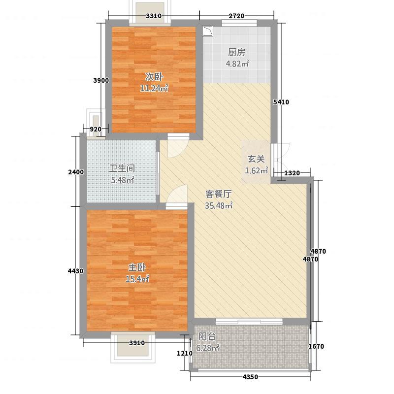 锦书清华里9#户型2室2厅1卫1厨