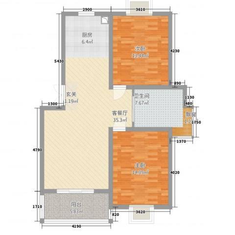 锦书清华里2室1厅1卫0厨108.00㎡户型图