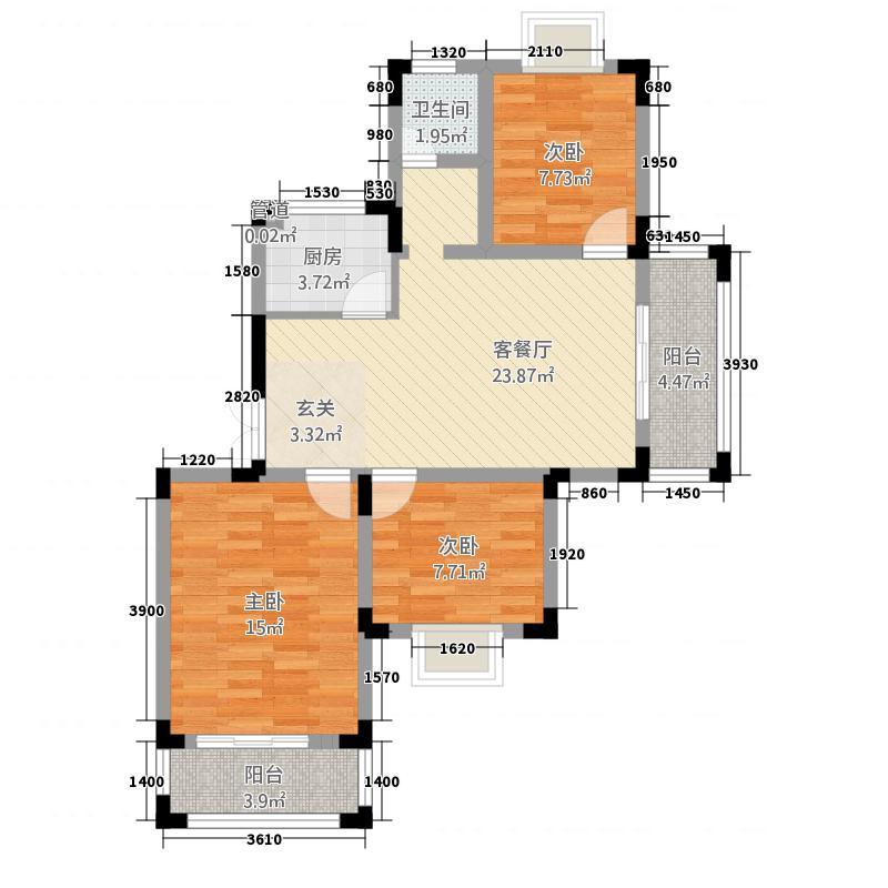 海都嘉园户型3室