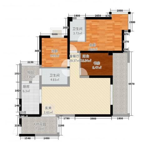未来城2室1厅2卫1厨116.00㎡户型图