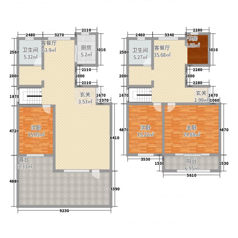 枫情水岸璞院254.22㎡复式3#楼G户型4室2厅2卫1厨