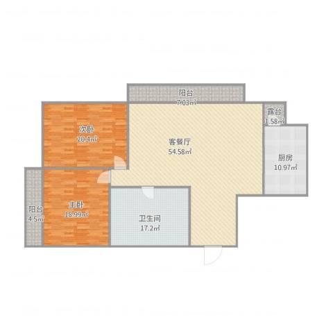 学府世家2室1厅1卫1厨179.00㎡户型图