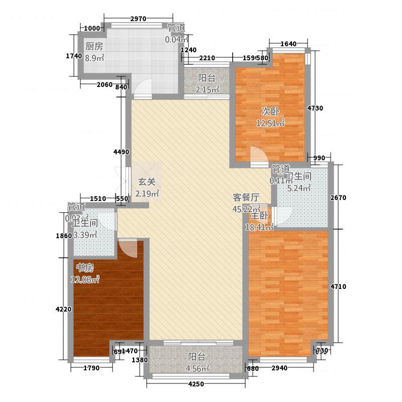 时代国际中心16.00㎡D户型3室2厅2卫