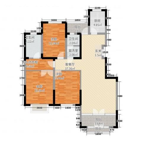 警院小区3室2厅2卫1厨149.00㎡户型图