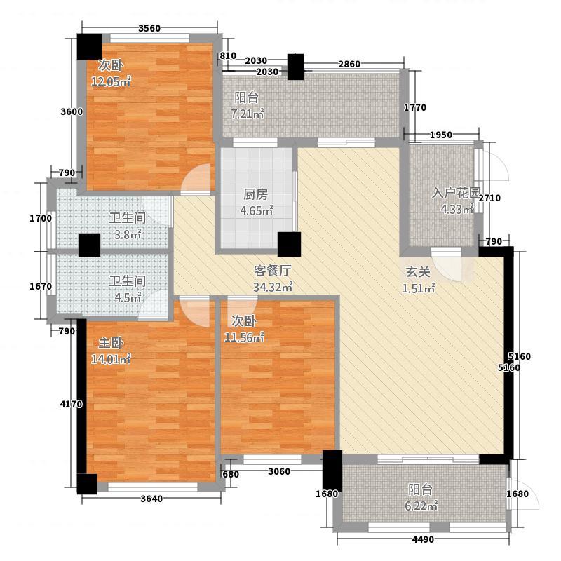 吉马凯滨大厦145.48㎡A户型3室2厅2卫1厨