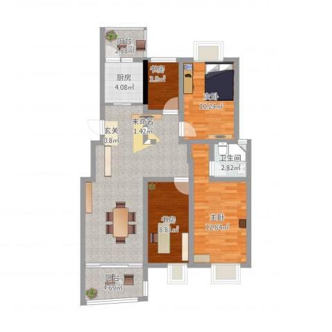 德惠・尚书房4室1厅1卫1厨114.00㎡户型图