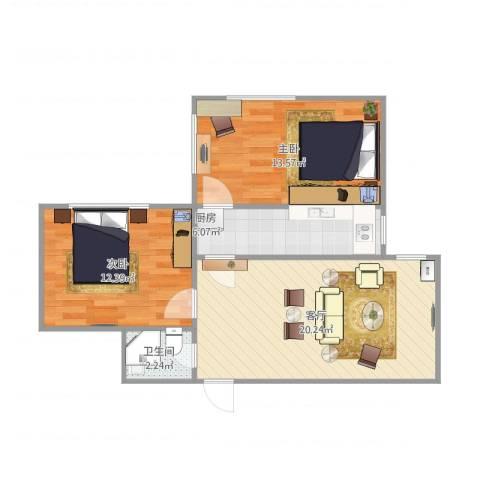 海港公寓2室1厅1卫1厨73.00㎡户型图