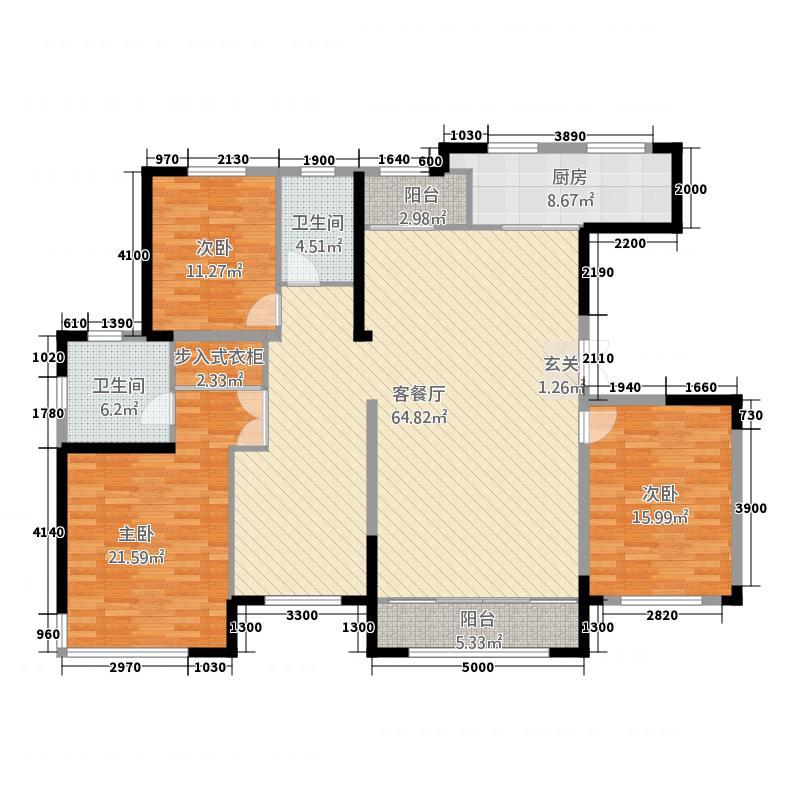 中房粹园24185.20㎡H2户型4室2厅2卫1厨