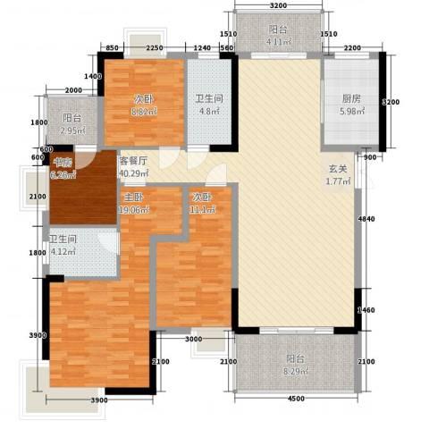 梓山湖领御4室1厅2卫1厨149.00㎡户型图