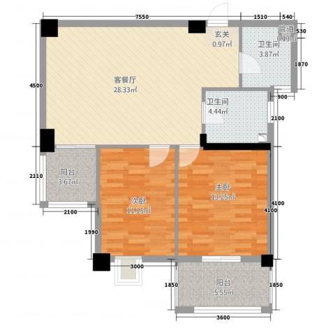 富安・森活印象2室1厅2卫0厨99.00㎡户型图