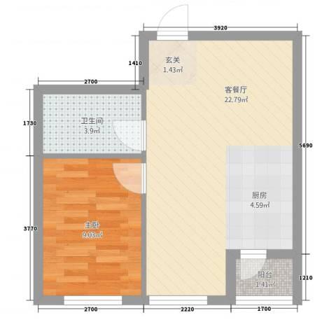 甜橙派1室1厅1卫0厨3253.00㎡户型图