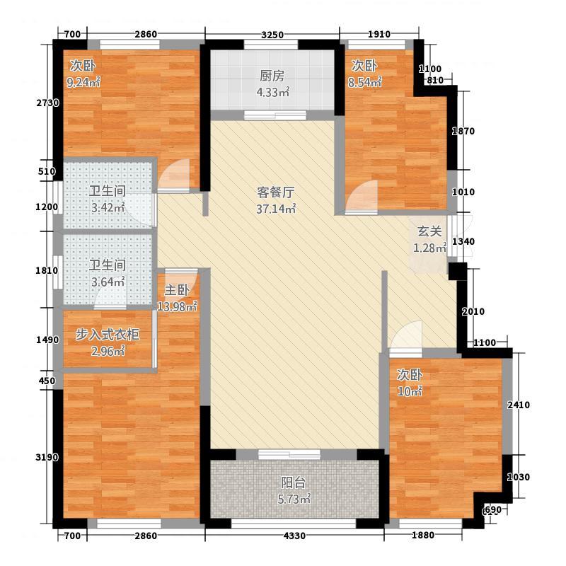 春天城143.00㎡A1户型4室2厅2卫