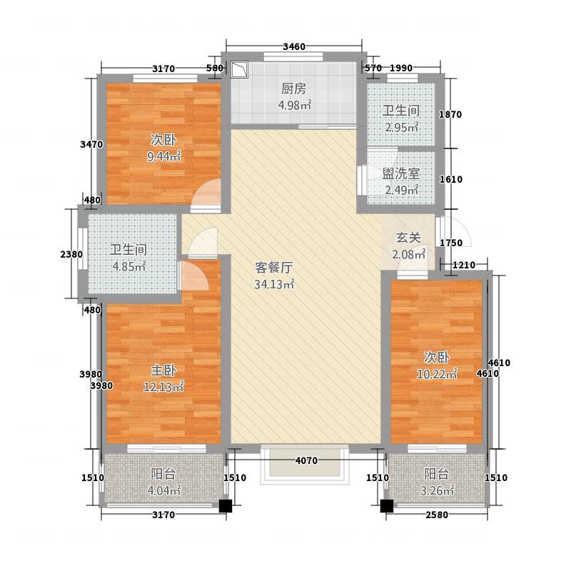 锦悦桦庭681127.75㎡6#8#D1户型3室2厅2卫1厨