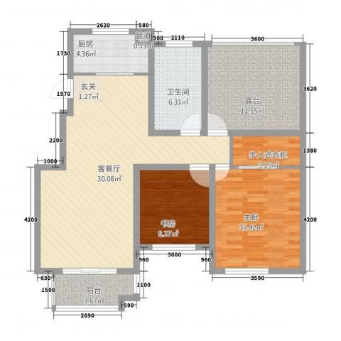 泰和名都2室1厅1卫1厨81.99㎡户型图