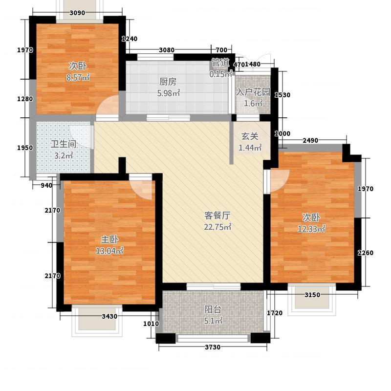 丰泽怡园318.72㎡F户型3室2厅1卫1厨