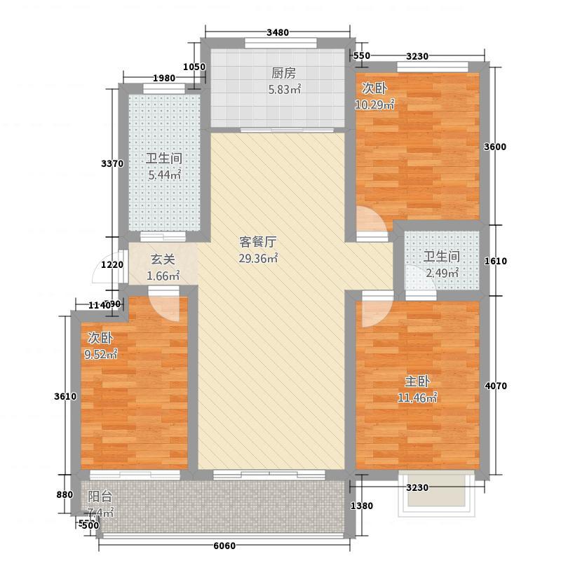 筑诚・12英里南区户型3室2厅2卫6厨