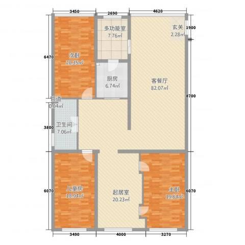 壹江南3室1厅1卫1厨224.00㎡户型图