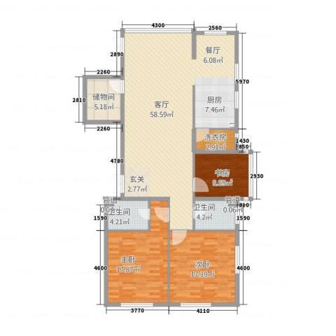 壹江南3室1厅2卫0厨165.00㎡户型图