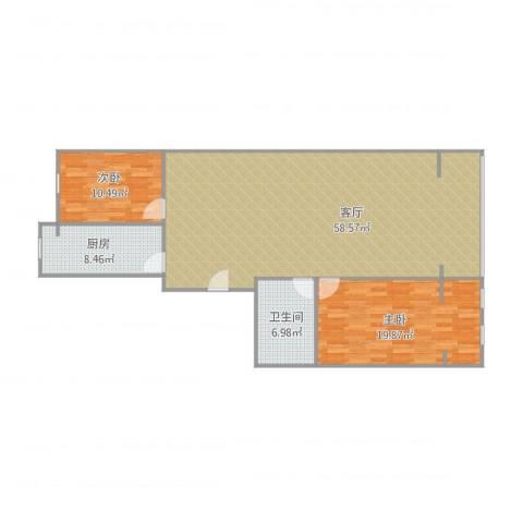 阳光绿苑2室1厅1卫1厨138.00㎡户型图