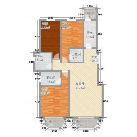 罗马世纪城3室1厅3卫1厨3134.00㎡户型图