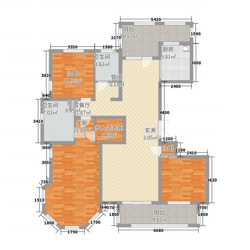 国仕山32177.12㎡D户型3室2厅2卫1厨