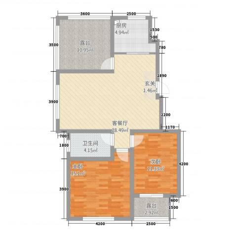 泰和名都2室1厅1卫1厨188.00㎡户型图