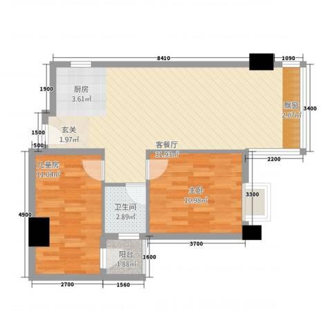 世博领寓2室1厅1卫0厨122.00㎡户型图