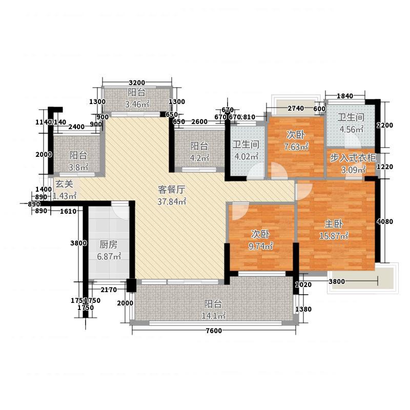 海湾1号1783135.13㎡7#8#B户型3室2厅2卫