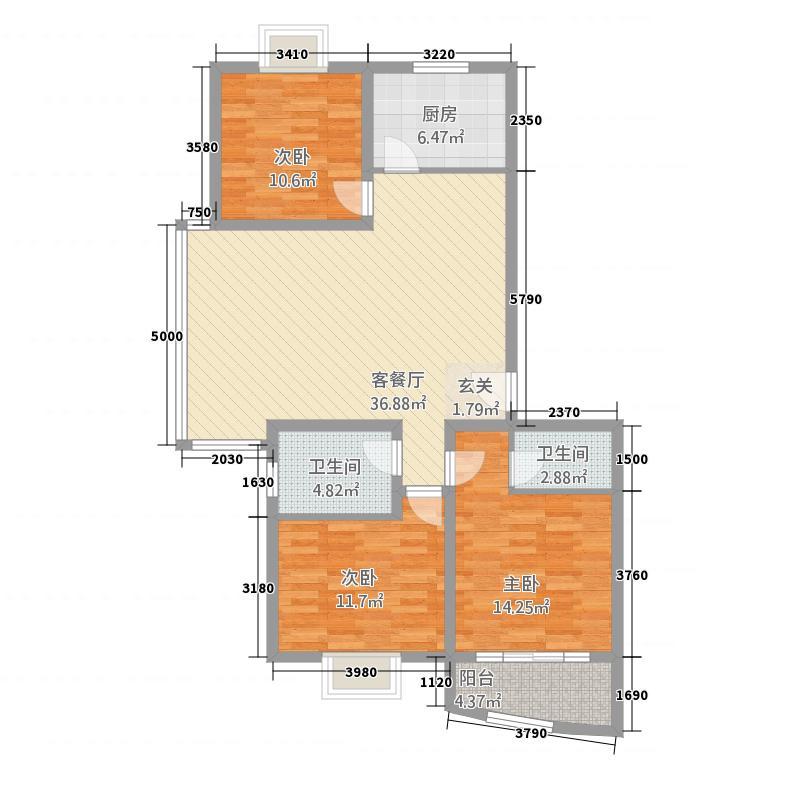 丽湖馨居18.00㎡户型3室
