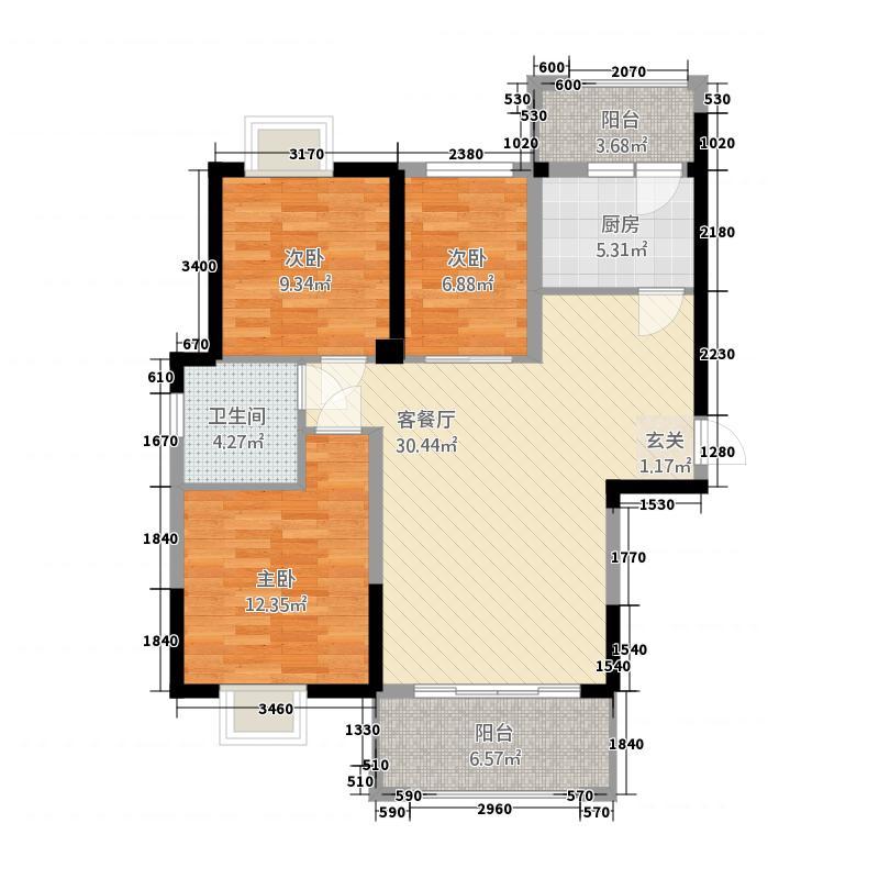 中誉南岸公馆218.20㎡2#01/07/04/05、3#01/03户型3室2厅1卫1厨