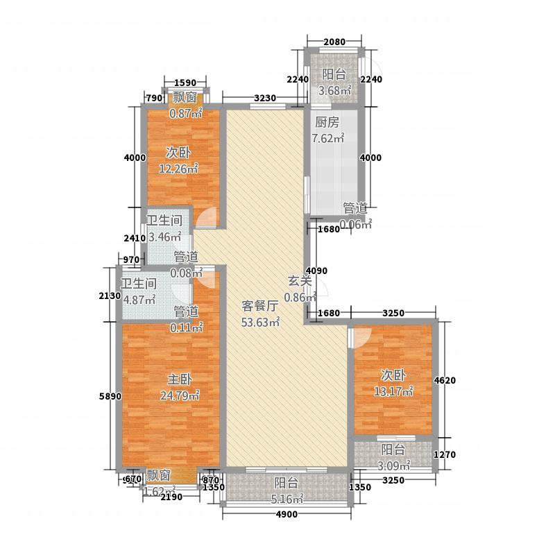 水庭世家187.21㎡C户型3室2厅2卫1厨