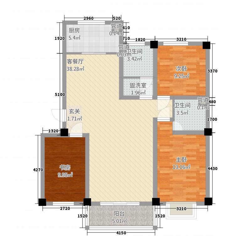 天润嘉园3212.20㎡户型3室2厅2卫1厨