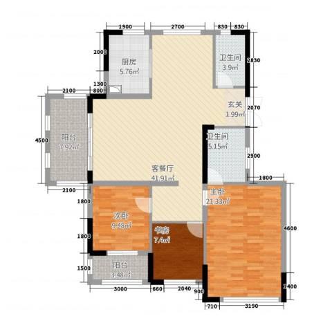 湘水郡3室1厅2卫1厨2315.00㎡户型图