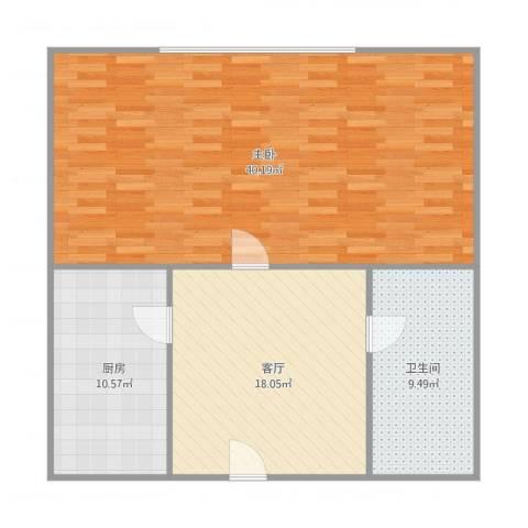 合景香悦四季1室1厅1卫1厨103.00㎡户型图