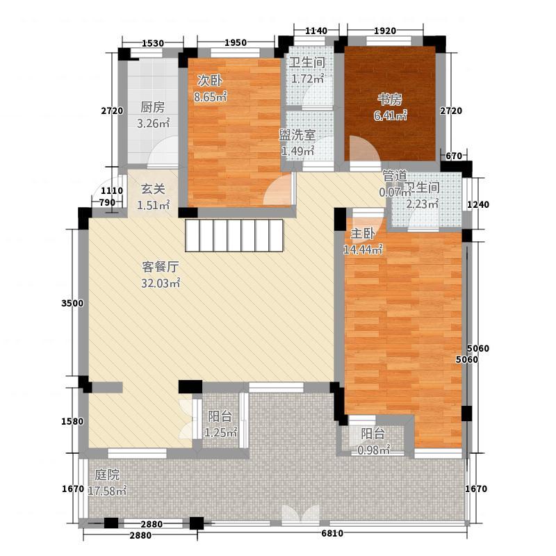鑫苑景园13.70㎡花园洋房a1户型3室2厅2卫1厨
