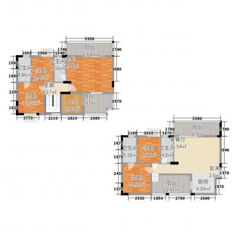 新长江顺心居5室1厅4卫0厨181.00㎡户型图