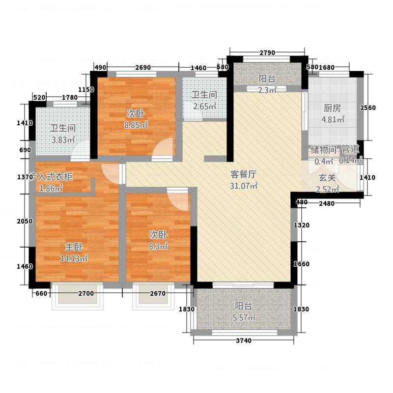 宝龙城市广场171121.20㎡fe1a713c9d250d64d7f3c6de210_p7_mk7_wm户型3室2厅2卫