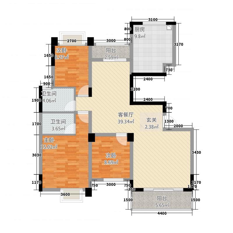 湘湖林语133.00㎡华瑞户型3室
