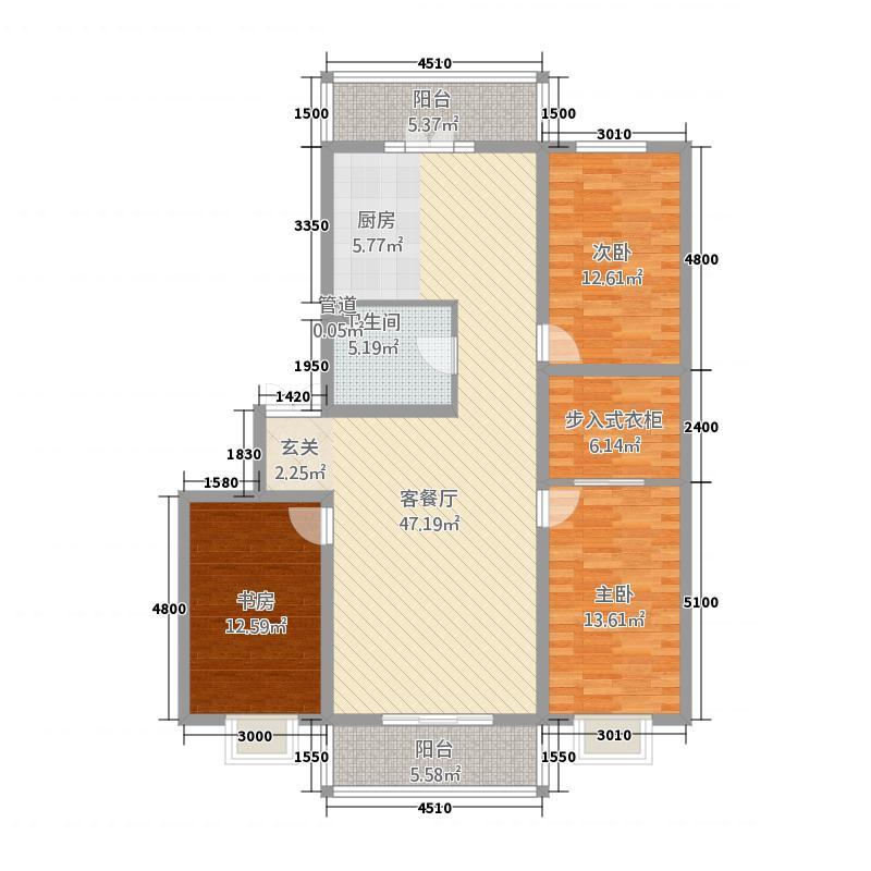 华泰滨江锦苑二期152.81㎡华泰滨江锦苑二期户型3室2厅1卫1厨