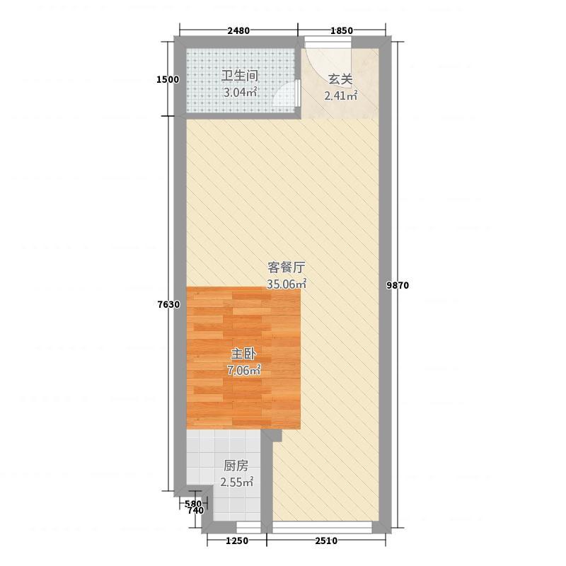 启东欣乐城153.20㎡户型1室1厅1卫1厨