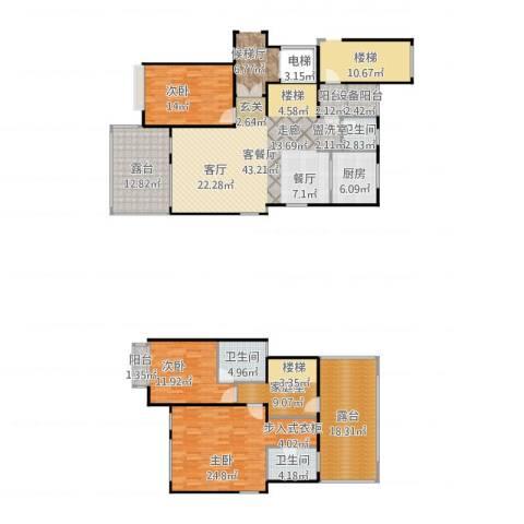 上海三湘海尚3室1厅3卫1厨216.00㎡户型图