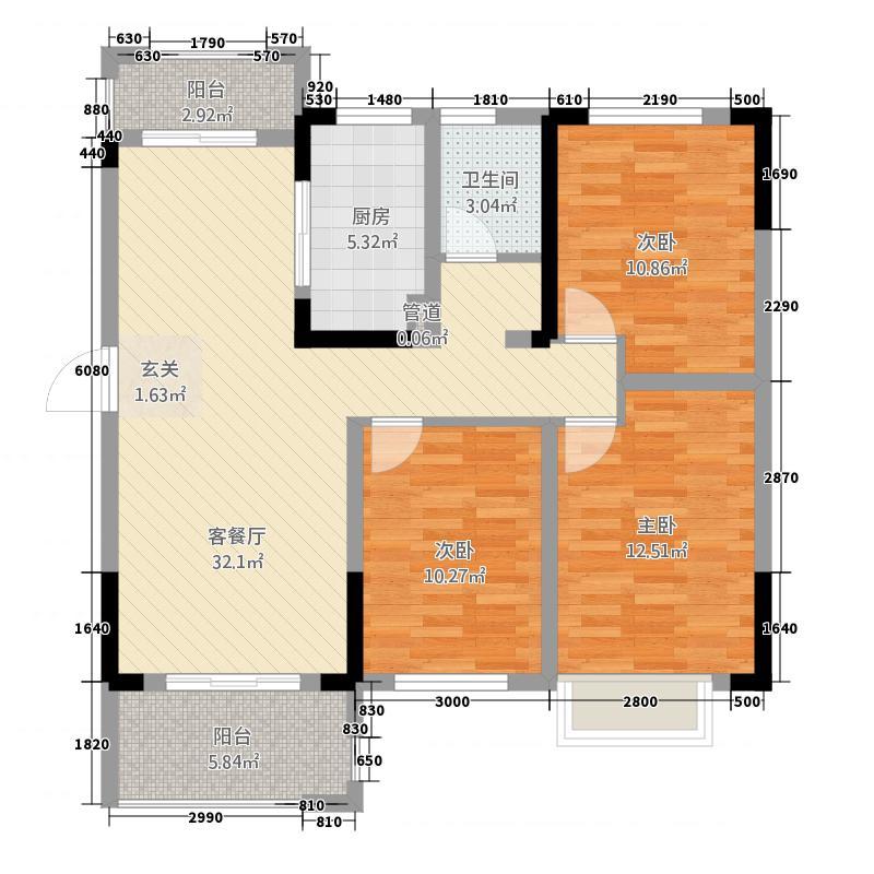 一涵・温莎公馆温莎公馆三期15层D6户型