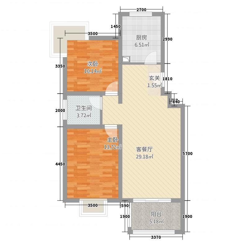 司法局家属院2居室2户型2室2厅1卫1厨