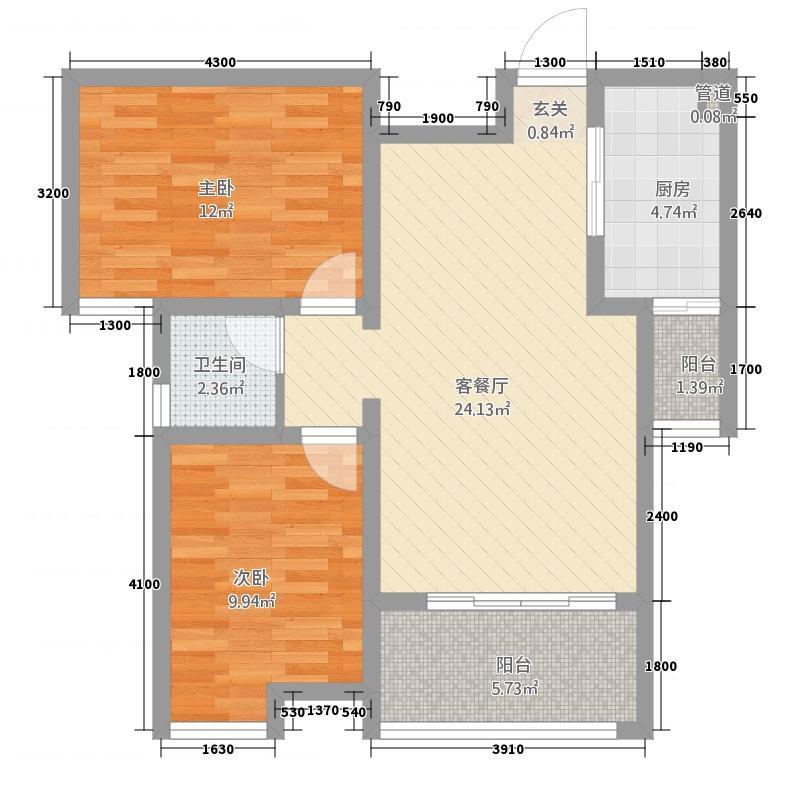 牡丹名城22173.12㎡-()户型2厅1卫