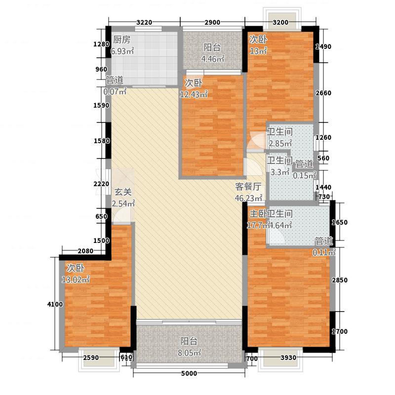 瑞丰・宏都水岸187.11㎡一期瑞景楼07户型4室2厅3卫1厨